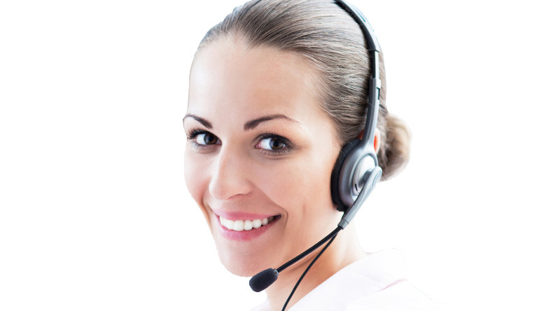 Woman on Headset
