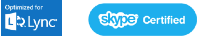 lync and skype logos