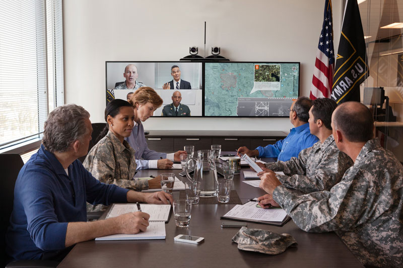 Video conference - Military