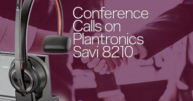 Conference Calls on Plantronics Savi 8210