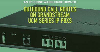 Outbound Call Routes on Grandstream UCM Series IP PBXs