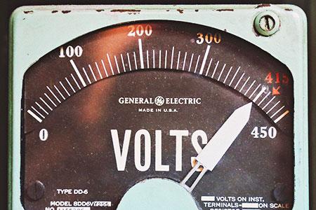 Old Voltage Meter