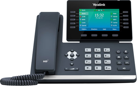 Yealink T54W Wireless IP Phone, Front