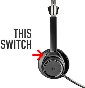 Poly Voyager Focus Headset, Pairing Switch