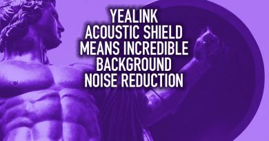 Yealink Acoustic Shield Means Incredible Background Noise Reduction