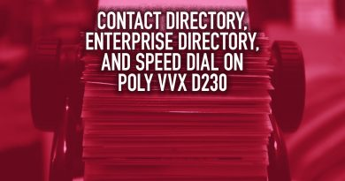 Contact Directory, Enterprise Directory, and Speed Dial on Poly VVX D230