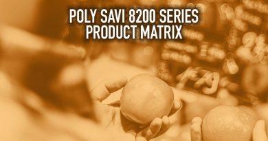 Poly Savi 8200 Series Product Matrix
