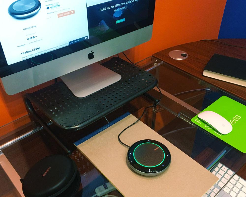 Yealink CP700 On a Desk